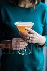 Woman Holding Martini